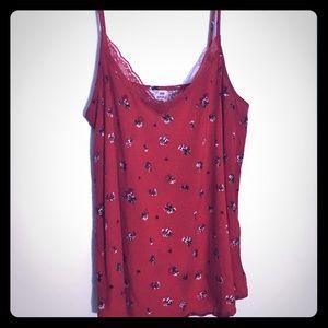 Red spaghetti strap shirt